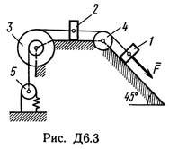 Задача д6 -на применение к изучению движения системы уравнений лагранжа