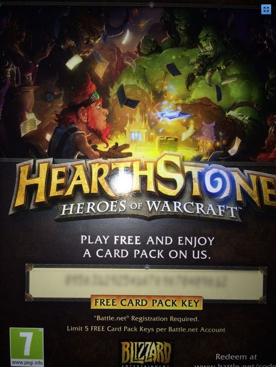 Hearthstone Expert Pack Key Battle.net (Набор карт)