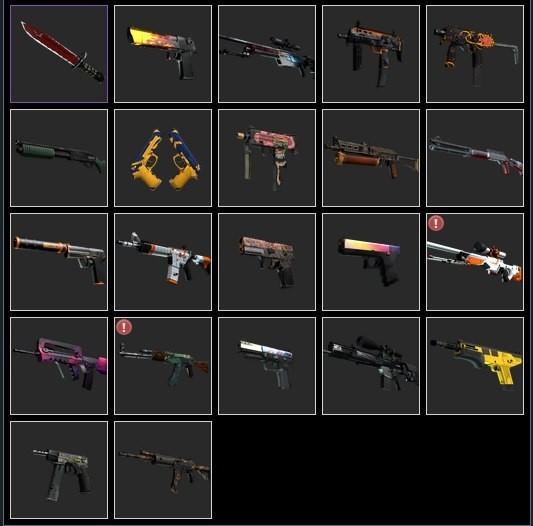 Набор случайного оружия cs:go (предметы cs:go) 20 штук