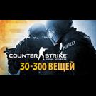 CS:GO с инвентарем (30-300 вещей)