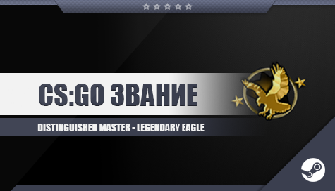 CS;GO Звание [Distinguished Master - Legendary Eagle]