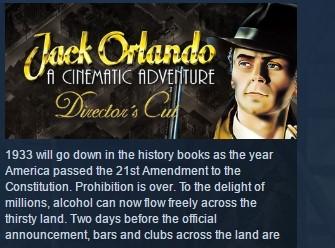 Jack Orlando: Director's Cut 💎 STEAM KEY REGION FREE