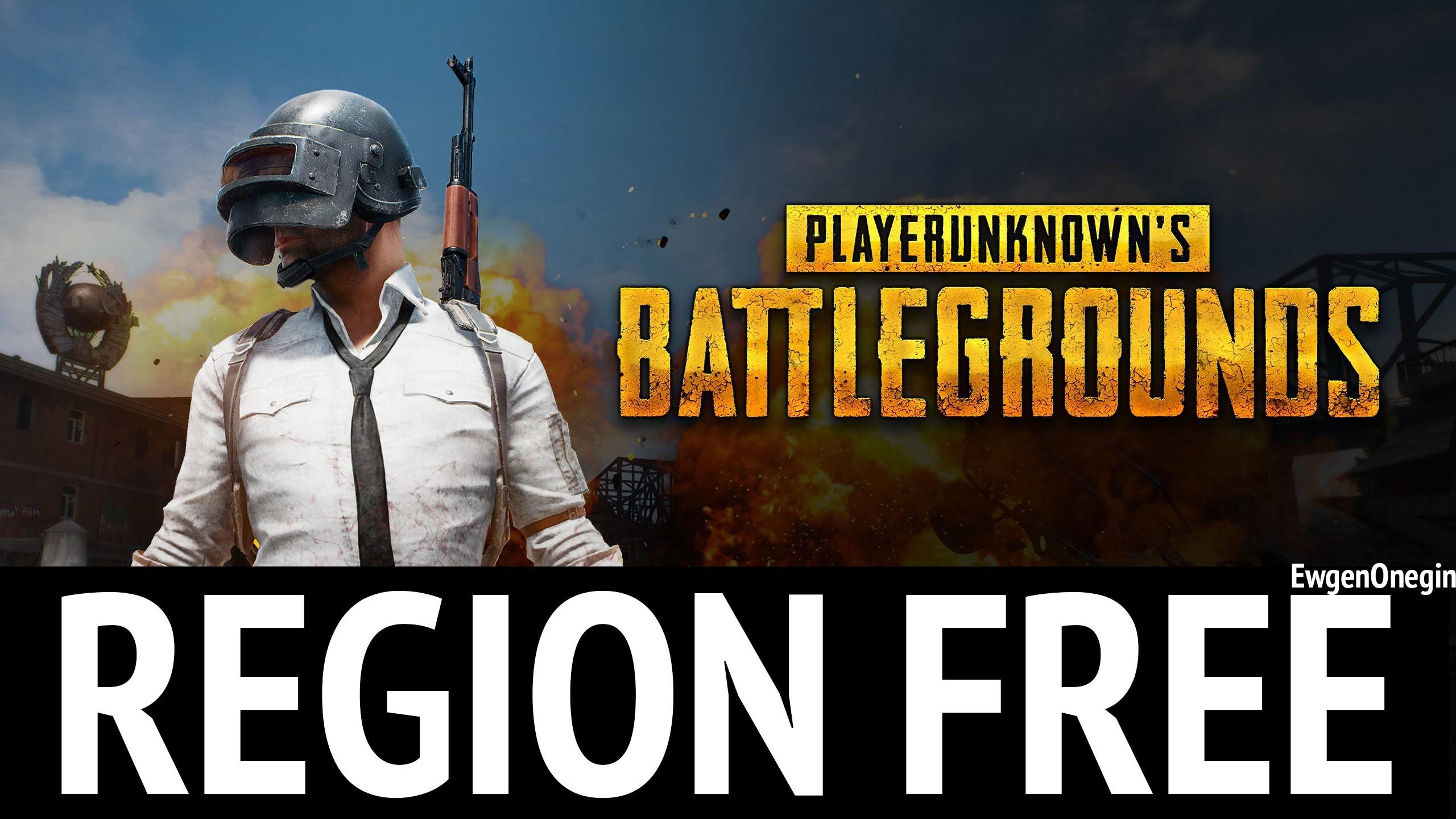 PLAYERUNKNOWNS BATTLEGROUNDS Free Region (New account)