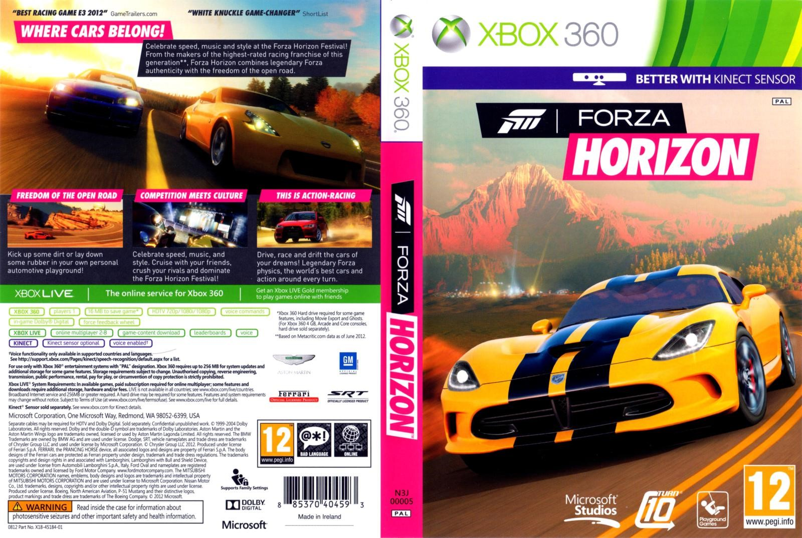 Forza Horizon 1 +9игр ( Xbox One ) Обратная совместим