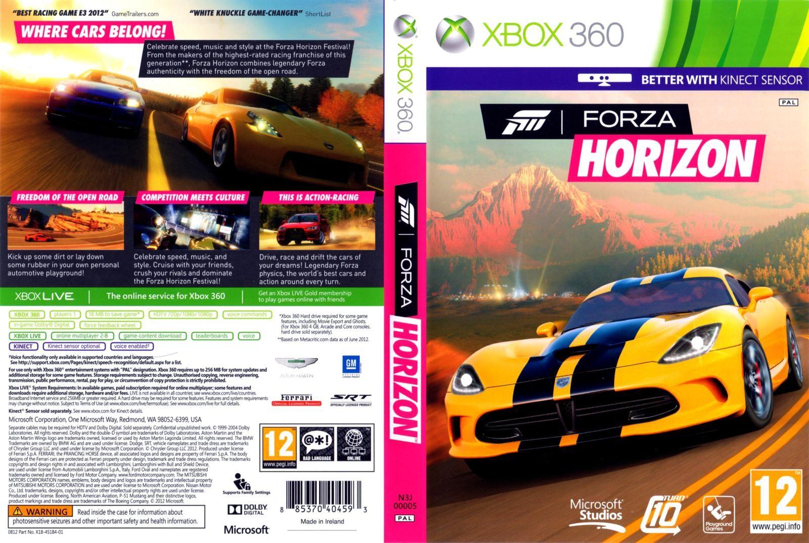 Forza Horizon +2игры( Xbox One ) Обратная совместимость
