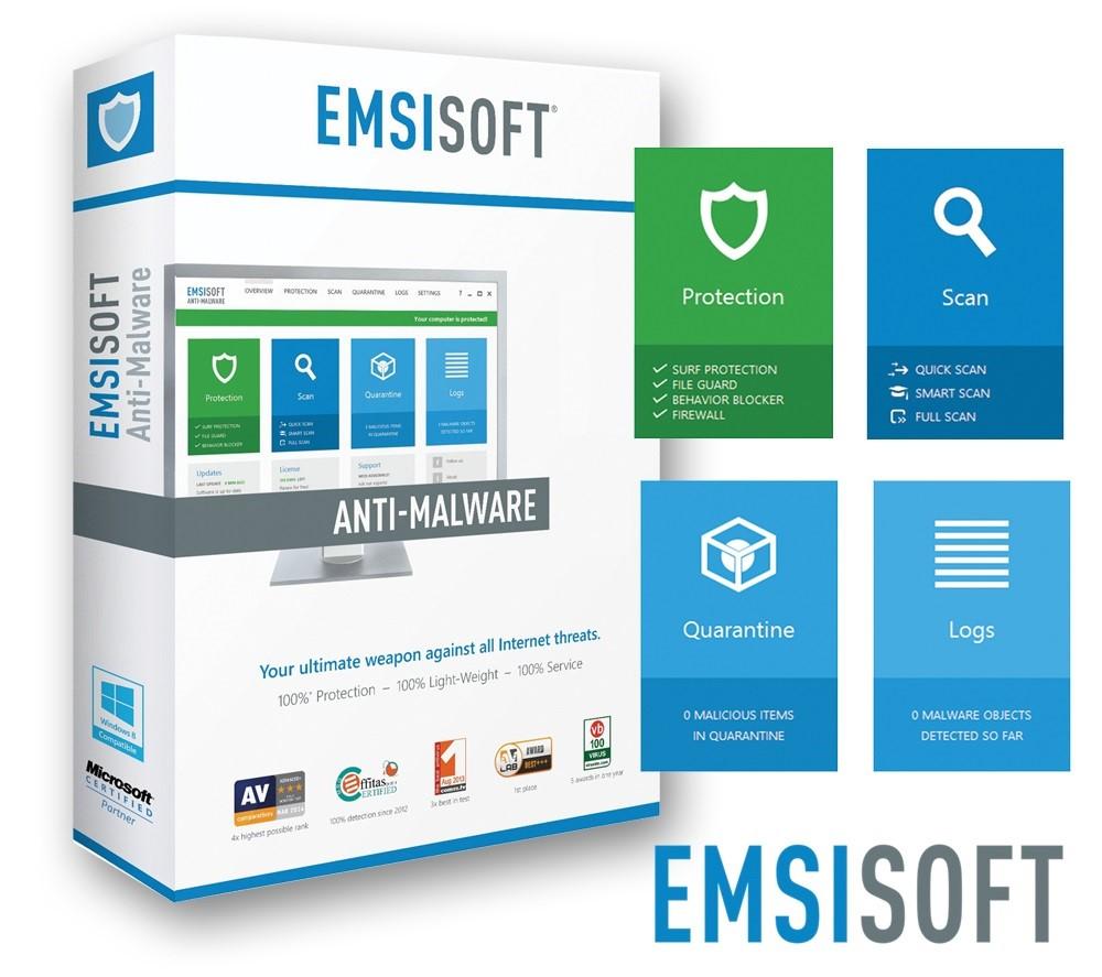 Emsisoft Anti-Malware 1 пк / 6 месяцев