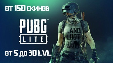 Аккаунт PUBG LITE от 150 скин