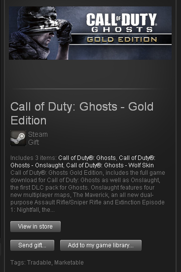 Call of Duty Ghosts Gold Edition - STEAM Gift GLOBAL