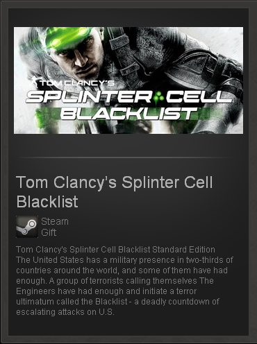 Tom Clancys Splinter Cell Blacklist Standard STEAM ROW