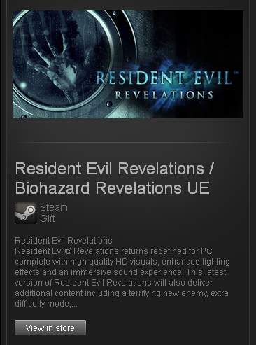 Resident Evil Revelations - STEAM - Region Free