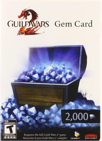 Guild Wars 2 Gem Card 2000 ( СКАН/SCAN )   СКИДКИ