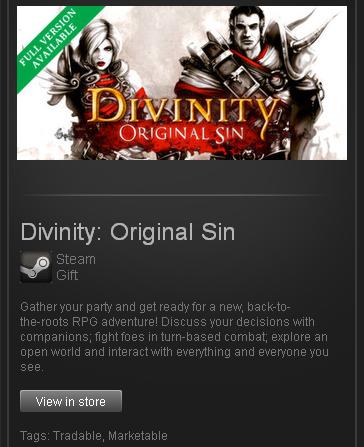 Divinity Original Sin - STEAM Gift - Region Free / ROW