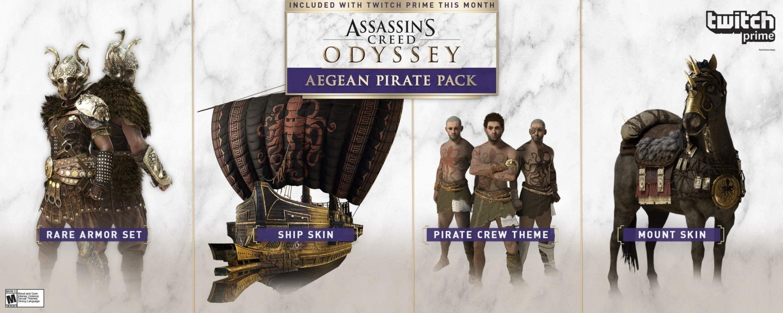 Twitch Prime Assassin's Creed Odyssey Aegean Pirate DLC