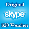 20 USD Genuine Cards for Skype.com 2*10$ ORIGINAL