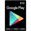 $10 Google Play card. Actual scan of USA card not gened
