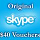 4 $ Ваучеры пополнения 4*1 $ Активация на Skype.com