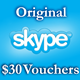 3 $ Ваучеры пополнения 3*1 $ Активация на Skype.com