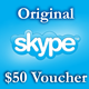 5 $ Ваучеры пополнения 2*25$ Активация на Skype.com