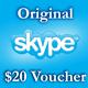 2 $ Ваучеры пополнения 2*1 $ Активация на Skype.com