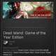 Dead Island: Game of the Year GOTY - Steam - ROW / free