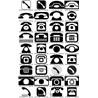 Векторные значки телефонов