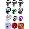 Векторная эмблема медицины - чаша со змеёй