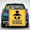 Наклейка «Ребенок в машине» №4
