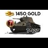 World of Tanks 1450 голды + Т-127 для Новичков