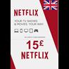 Netflix Подарочная карта ?15 (UK)