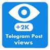 2000 Telegram Post Views