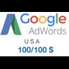 Промокод купон Google AdWords Адвордс США 100/100$ USA