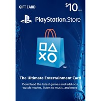 PSN 10$  PLAYSTATION NETWORK  GIFT CARD 10  USD USA