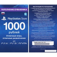 1000 рублей I PSN Playstation Network RUS ПСН