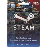 ❤️STEAM WALLET GIFT CARD 50$ USD | GLOBAL🔥