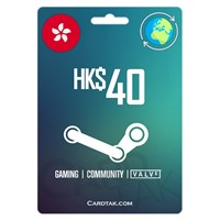STEAM WALLET GIFT CARD HK$ 40=$5.1 USD ✅ REGION FREE