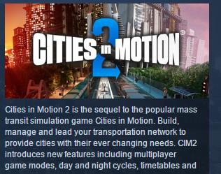Cities in Motion 2 STEAM KEY REGION FREE GLOBAL