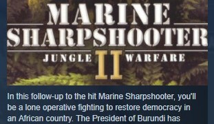 Marine Sharpshooter II: Jungle Warfare STEAM KEY ROW