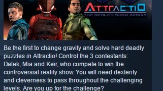Attractio ( Steam Key / Region Free ) GLOBAL ROW