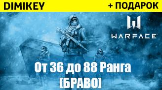 Купить аккаунт Warface [36-88] ранг + почта [БРАВО] + подарок + бонус на SteamNinja.ru