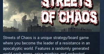 Streets of Chaos ( Steam Key / Region Free ) GLOBAL ROW
