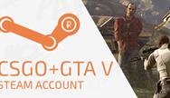 Купить CS:GO + GTA 5 Steam account + скидка + подарок