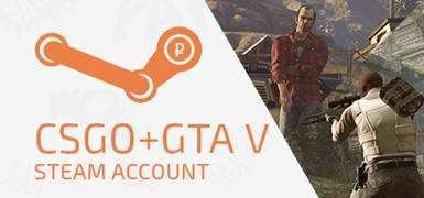 Steam account CS:GO + GTA 5 + скидка + подарок