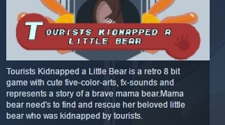 Tourists Kidnapped a Little Bear STEAM KEY REGION FREE