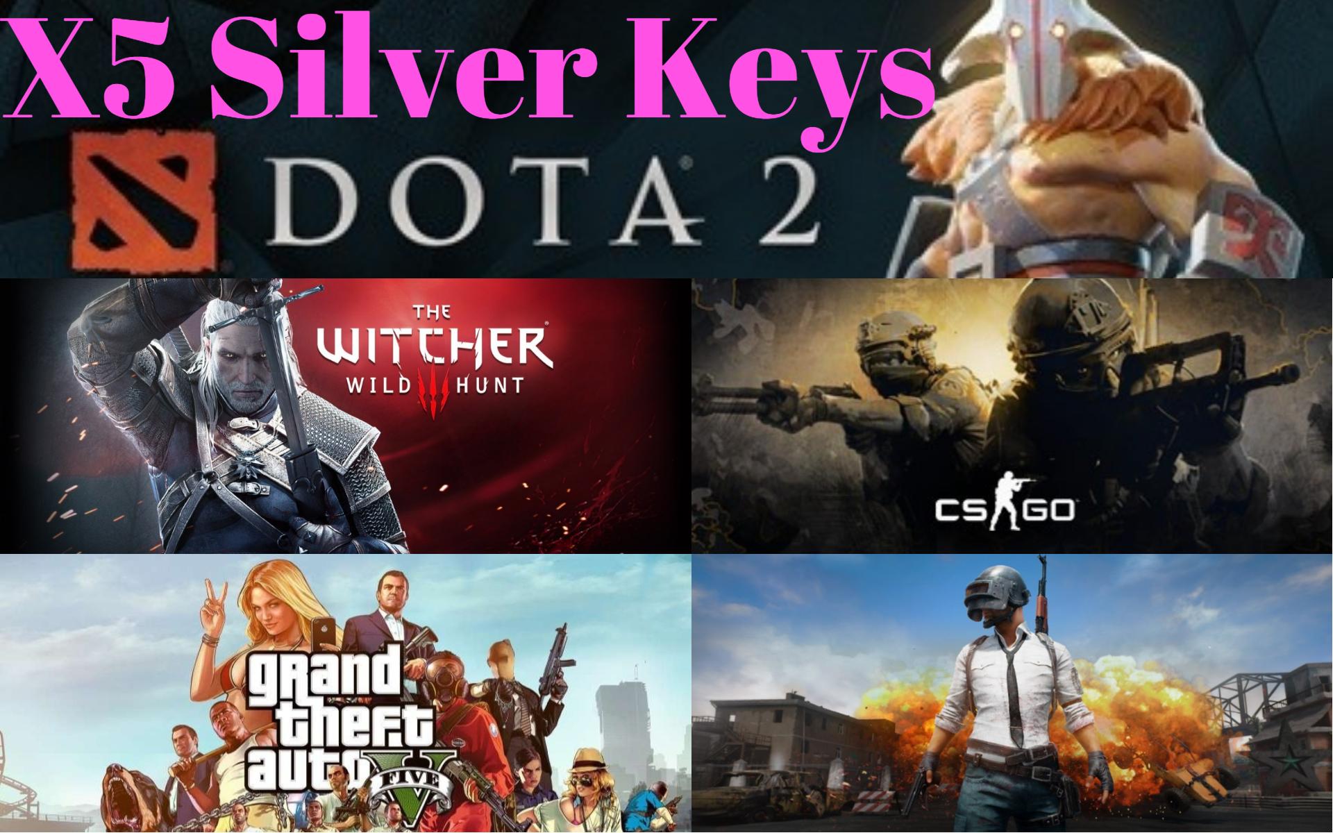 Купить 5 Silver Steam Keys + Подарки