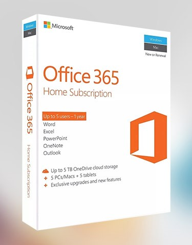 Купить Office 365 5PC/Mac 1 год. 1ТБ