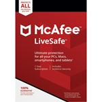 McAfee LiveSafe 1 USER 1 Year Русский язык RegFree