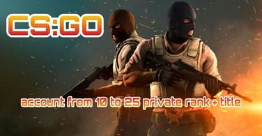 Купить аккаунт CS:GO аккаунт 🔥 от 10 до 25 приват ранг + Звание ✅ на SteamNinja.ru