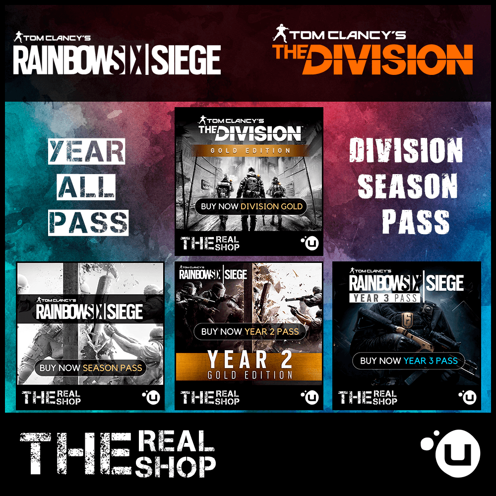 Купить DIVISION SEASON + SIEGE ALL SEASON PASS | UPLAY