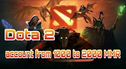Аккаунт DOTA 2 | MMR от 1000 до 2000 рейтинга