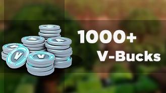 Купить Fortnite 1000 - 29600 V-BUCKS аккаунт + гарантия